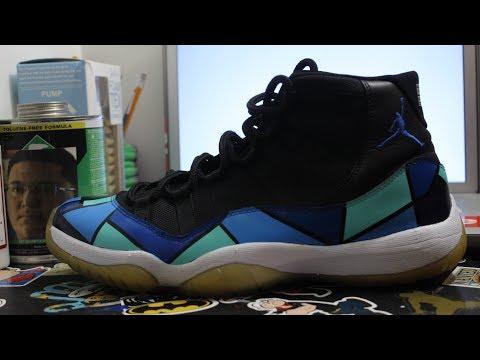 Custom Monochrome Jordan 11s