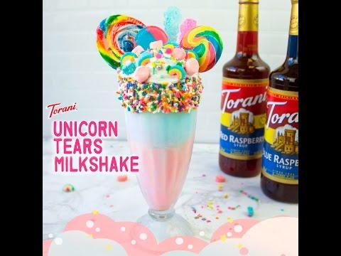 Torani's Unicorn Tears Milkshake