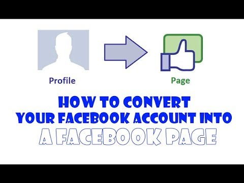 How To Convert Fb Account In To Page Hindi || Urdu