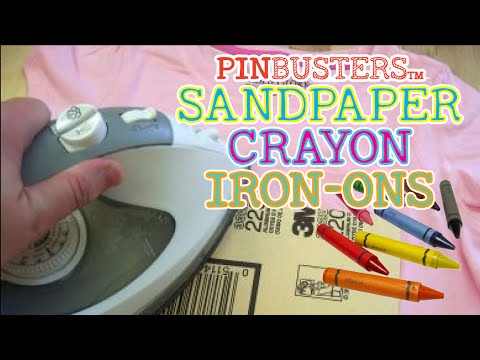 Sandpaper Crayon Iron-Ons // PINTEREST PIN FOR KIDS. DOES IT WORK?