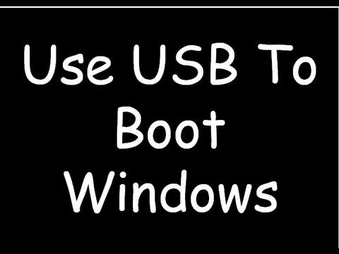 How to convert USB into a Bootable Device