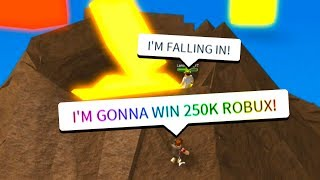 He Did THIS To Let Me Win 250,000 Robux.. (Roblox)