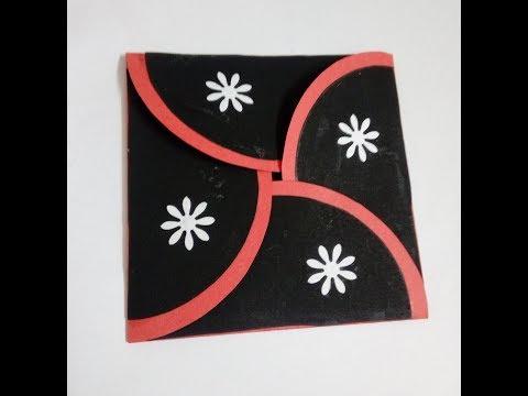flower envelope card tutorial by Handmade card ideas