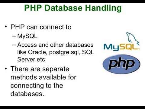 PHP DataBase Handling in Hindi - Chapter 11