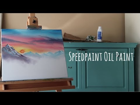 Bob Ross Style Speedpaint! (Oil Painting With Owen)