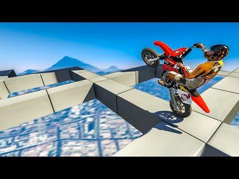 IMPOSSIBLE MOTORBIKE WHEELIE! - (GTA 5 Stunt Mod)
