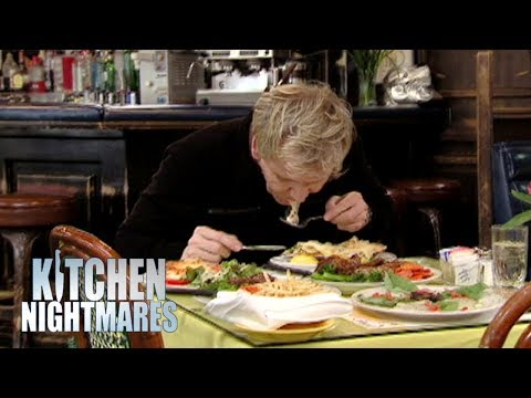 Gordon Spits Out Disgusting Microwaved Food from Lying Chef | Kitchen Nightmares