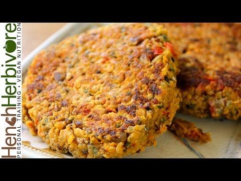 Chickpea & Quinoa Burgers   Vegan High Protein
