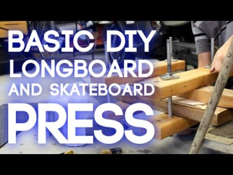 How To Make A Longboard / Skateboard Press | CashedOutBoards