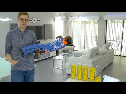 SHOOTING 430 NERF DARTS AS FAST AS POSSIBLE 9 | RIVAL NEMESIS