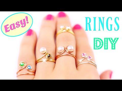 5 DIY Rings EASY & Adjustable!! How To Make a Ring | Easy Diy Rings