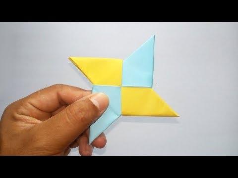 How To Make A Paper Ninja Star(Shuriken) - Easy Origami Ninja Star