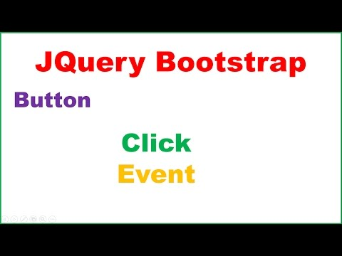 JQuery Bootstrap Ep.02 : Button Click Event - Select by ID