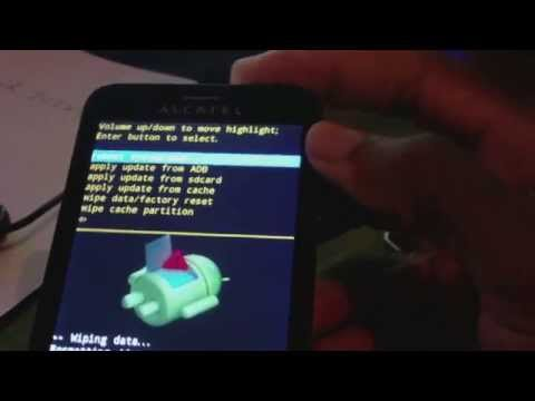 How To Hard Reset Alcatel One Touch Fierce 7024W Smartphone