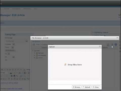 Creating links in a Joomla 2.5 website using JCE editor