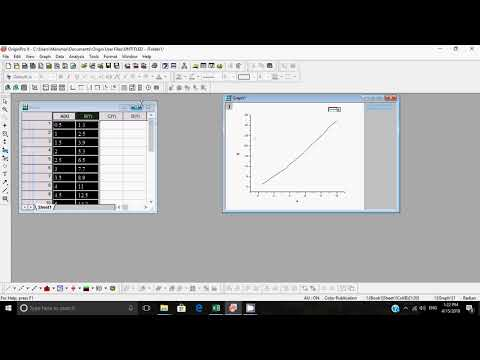 How to find slope of graph in orgin8