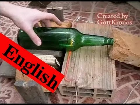 Cut glass bottle - Easy and quickly way