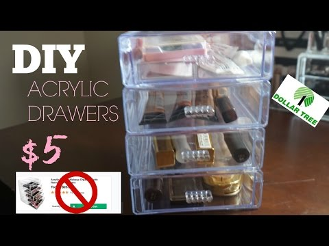 DIY MAKEUP STORAGE CONTAINERS | ONLY $5 DOLLARS