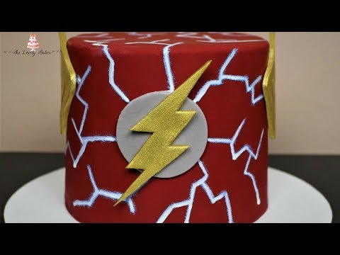 EASY The Flash Justice League Cake Tutorial!