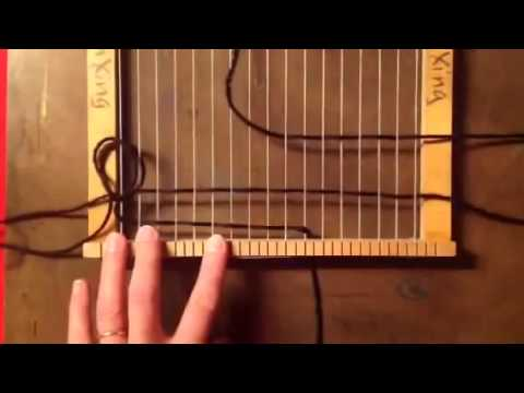 How to start weaving on a loom using a basic tabby weave for 5th grade