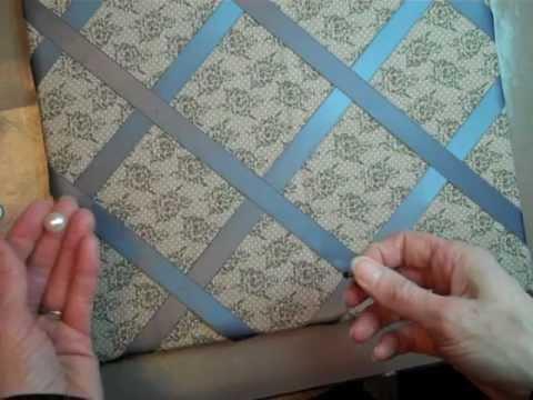 Fabric & Ribbon Covered Bulletin Board