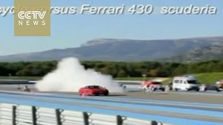 Fast & Furious: Bicycle outraces a Ferrari