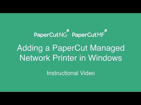 Adding a PaperCut Managed Printer in Windows