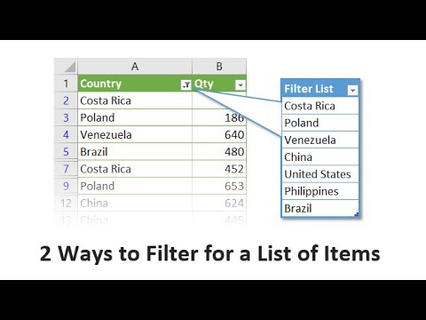 2 Ways to Filter for a List of Items in Excel