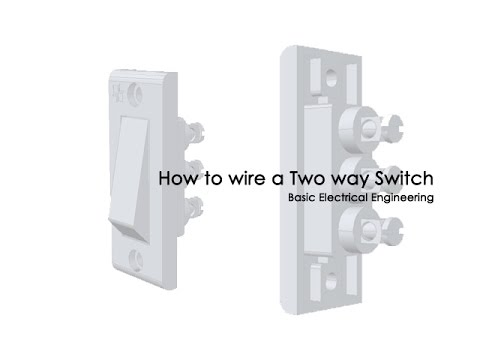 Two way switch wiring (Staircase Wiring)