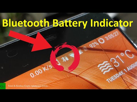 Bluetooth Battery Level Indicator on Status Bar (Android 4.4+, No ROOT)