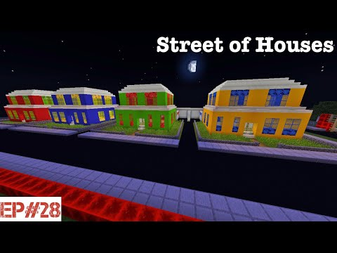 Minecraft   Building A City   #28   Street of Houses