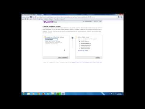 Creating an extra yahoo email