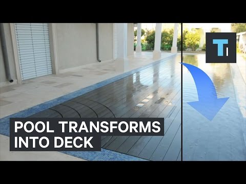 Pool transforms into a deck