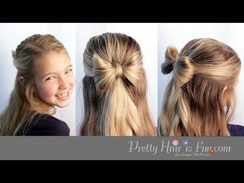 CUTE HAIR BOW 🎀 HAIRSTYLE TUTORIAL!!