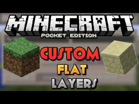 CUSTOM FLAT WORLDS IN MCPE - How to Get Custom Flat Layers Tutorial - Minecraft PE 0.14.0