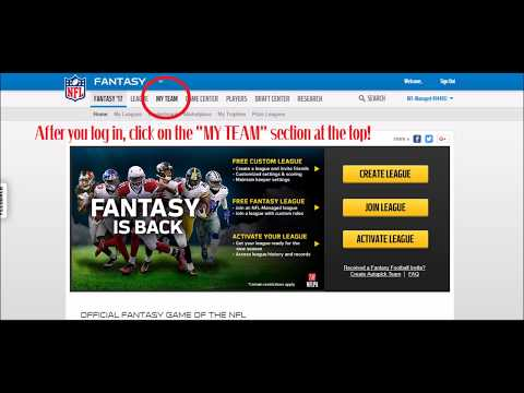 How To Change NFL Fantasy Football Team Logo Picture