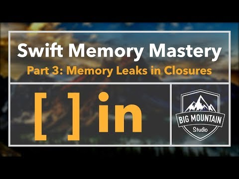 Memory 3 - Fixing Memory Leaks in Closures with Capture List (iOS, Xcode 9, Swift 4)