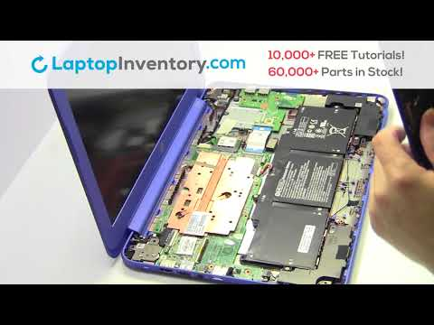 HP Stream 13-C WiFi Card Replacement Disassembly Take Apart K3N16UA EAY0B003010