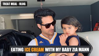 [VLOG] My Treat Meal - Eating ICE CREAM with my Baby Zia Mann