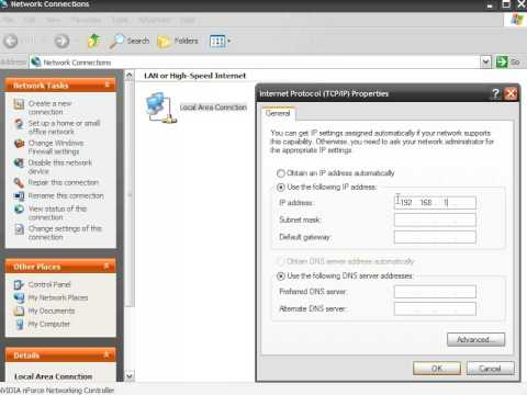 How to Change IP in Windows XP