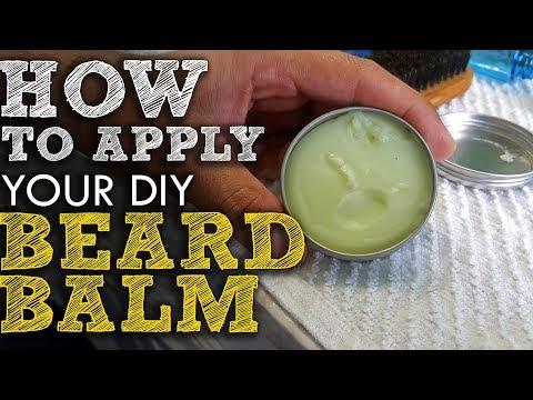 How to Apply your DIY Non-Greasy Beard Balm
