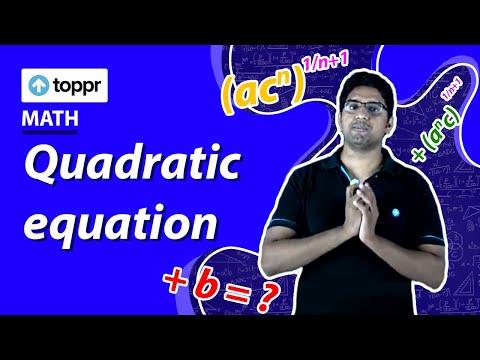 Quadratic equation | Sum and Product of roots of a Quadratic equation