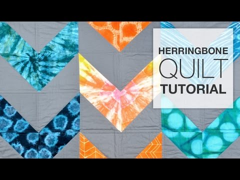 DIY Herringbone Quilt Tutorial