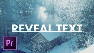 Text Reveal Effect TITLE in Premiere Pro Tutorial