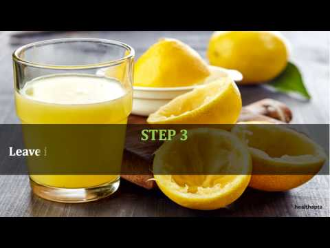 Fresh Lemon Juice to Get Rid of Keloids