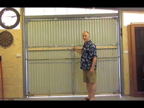 hangar style bifold door on my shed 3