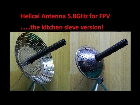 Helical Antenna 5 8GHz for FPV……the kitchen sieve version