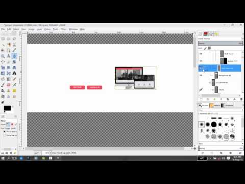 PSD to HTML using GIMP (Export images from a PSD)