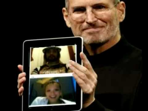 App Chatroulette on Ipad presentation by Steve Jobs - Starring Jessica Alba and Jesus Copyright