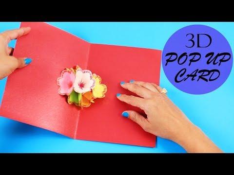 Learn How To Make Pop Up Card | DIY Flower Pop Up Card Hacks | Handmade Craft | 3D Flower Hacks